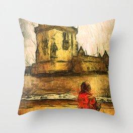 travel sketches  Throw Pillow