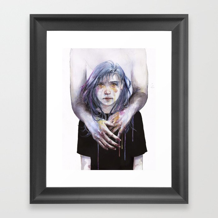 tiny creature Framed Art Print