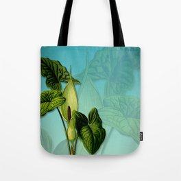 Vivid Arum & Leaves Tote Bag