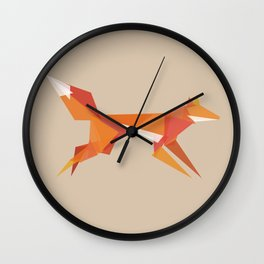 Fractal geometric fox Wall Clock