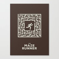 maze runner Canvas Prints featuring Maze Runner by Aaron Johnson Design