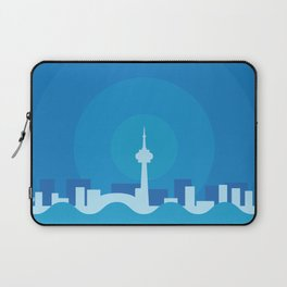 Toronto Minimalism Poster - Winter Blue Laptop Sleeve