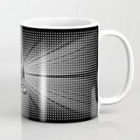buddah Mugs featuring Spacial Energy Buddah Mesh by Federico Sananes