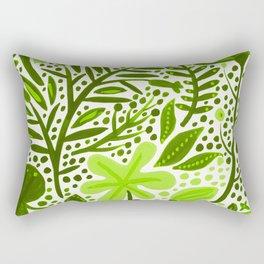 Garden – Lime Green Palette Rectangular Pillow