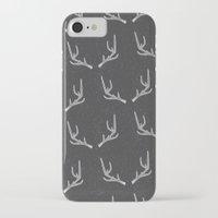 antlers iPhone & iPod Cases featuring Antlers  by Nadie van Wijk