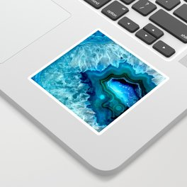 Teal Blue Agate II Sticker