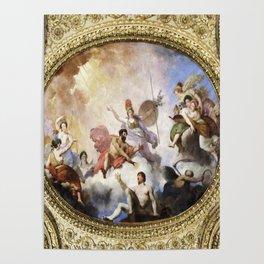 Fresco on Ceiling in Paris Poster