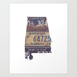 Vintage Alabama Art Print