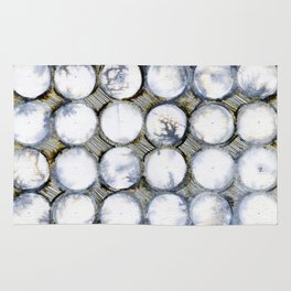 WATERCOLOUR DISCS: White Howlite Rug