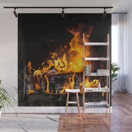 fireplace Wall Mural