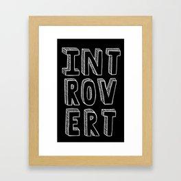 Introvert II Framed Art Print