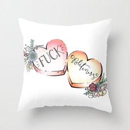 F Politeness Throw Pillow