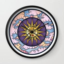 Moon and Sun Wall Clock