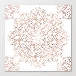 Mandala Rose Gold Pink Shimmer by Nature Magick Canvas Print