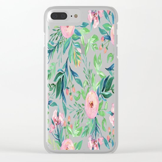 Gradient Garden Clear iPhone Case