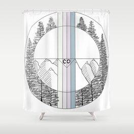 Geometric Colorado Art Shower Curtain