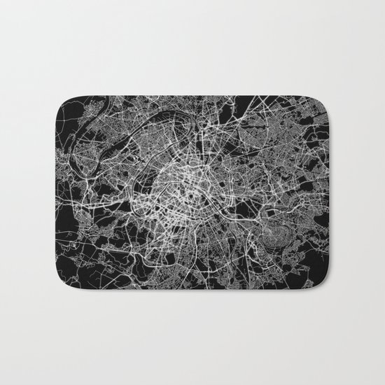 Paris map #2 Bath Mat