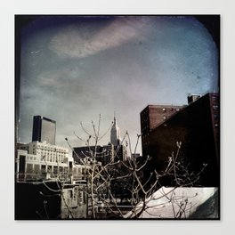 Winter Chill in the City Canvas Print