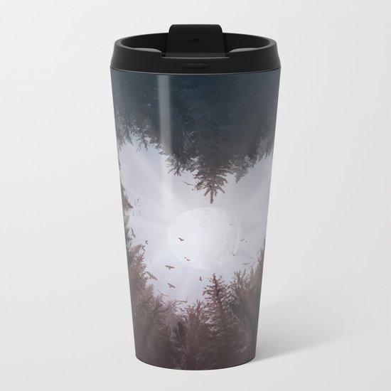 forest nature heart Metal Travel Mug