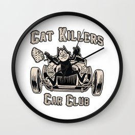 CAT KILLER CAR CLUB Wall Clock