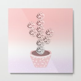Floral Cactus Metal Print