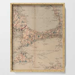 Vintage Map of Cape Cod MA (1905) Serving Tray