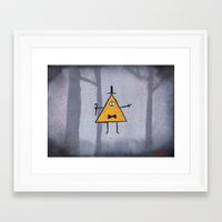 bill cipher Framed Art Prints featuring Bill Cipher by Ryn-the-Obsessed