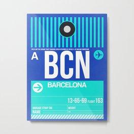 BCN Barcelona Luggage Tag 2 Metal Print