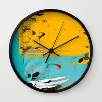 moon phase Wall Clocks featuring PHASE II by  ECOLARTE