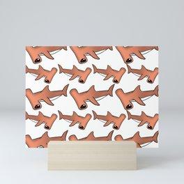 Hammerhead Sharks Mini Art Print