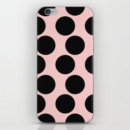 Millennial Pink Brown Dots iPhone Skin