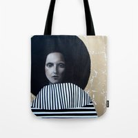 musa Tote Bags featuring MUSA by Michela Ezekiela Riba