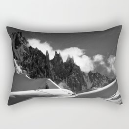 The Needles of the French Alps Rectangular Pillow