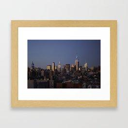 Evening Skyline - NYC Framed Art Print