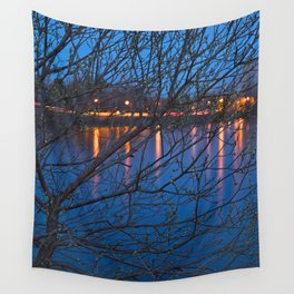 Budding Twilight Spring Wall Tapestry