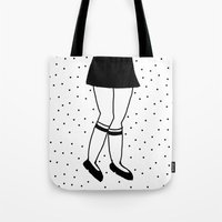 legs Tote Bags featuring Legs by itishazel