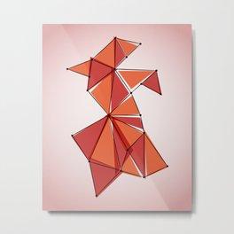 Origami 4 Metal Print