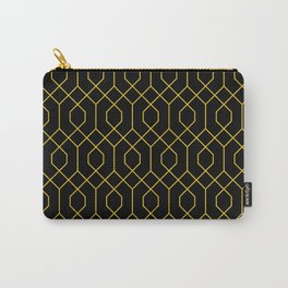 New York City Gold and Black Art Deco Carry-All Pouch