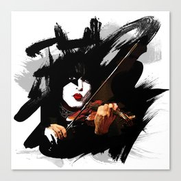 Paganini devil violinist  Canvas Print