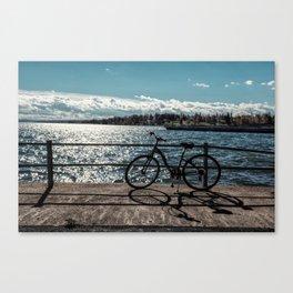 lakefront bike ride Canvas Print