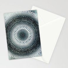WINTER LEAVES MANDALA Stationery Cards