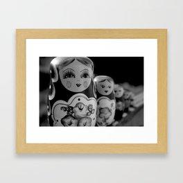 Wooden Dolls. Framed Art Print