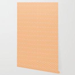 Japanese Dots Fade Tangerine Wallpaper