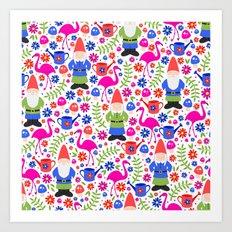 Gnome Garden Art Print