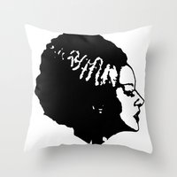 bride Throw Pillows featuring Bride by Abstractink82