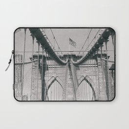 Brooklyn bridge, architecture, vintage photography, new york city, NYC, Manhattan view Laptop Sleeve