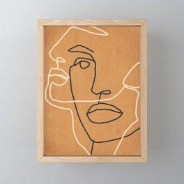 Abstract Face 6 Framed Mini Art Print