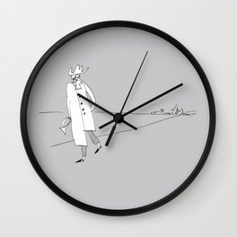 Lonely Traveling Jazzman Wall Clock