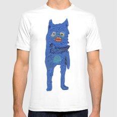 el monstro azul White Mens Fitted Tee SMALL