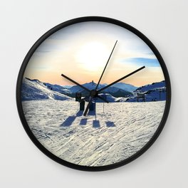 The snow, signs, shadows, sun, sky - and the surrounding! Wall Clock